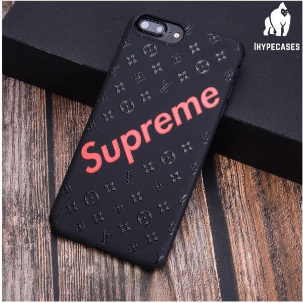 red louis vuitton supreme phone case - ihype cases