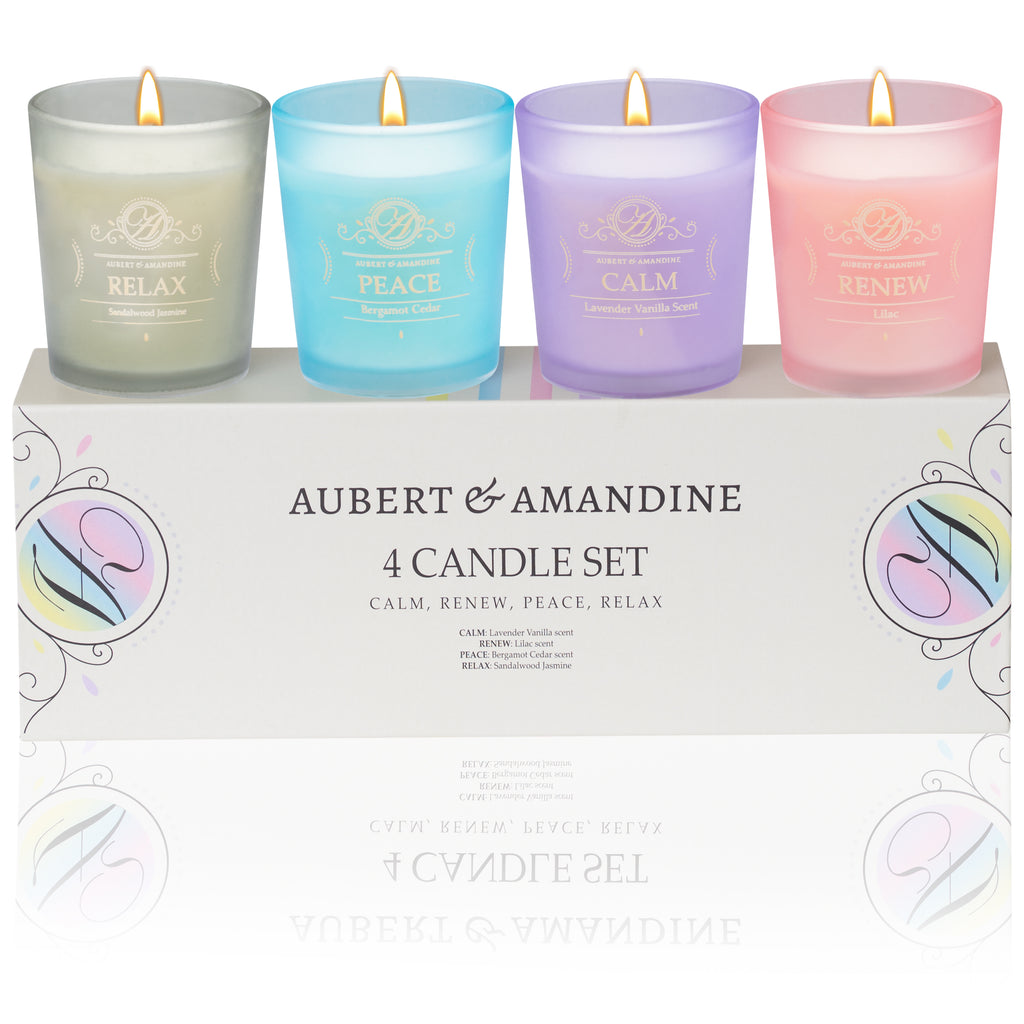 Scented Aromatherapy Candles Gift Set Four Different Scents Aubert Amandine