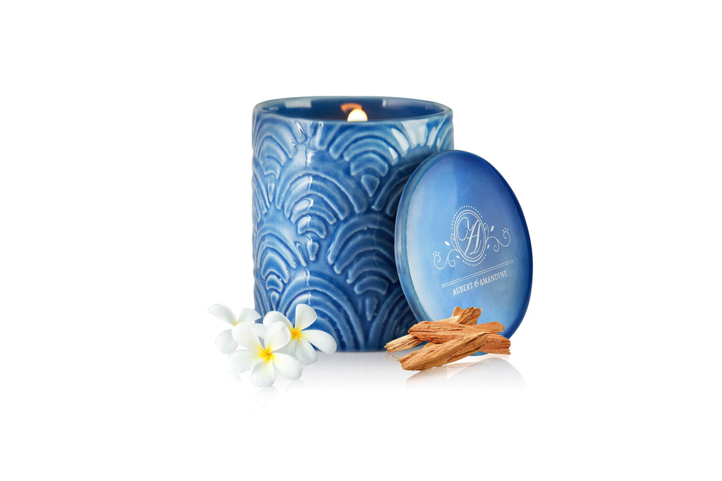 Aubert & Amandine Single Wick Candle KIEKAN Luxury Sandalwood Jasmine Scented Soy Candle