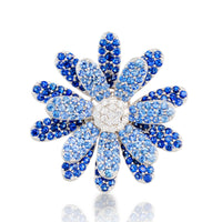 Daisy Flower Earring Blue