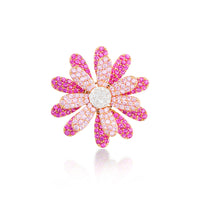 Daisy Flower Ring Pink