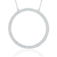 Circle Necklace Diamond Ver