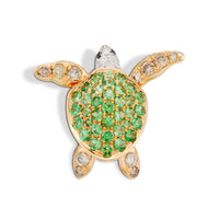 Turtle Earring Green
