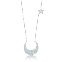 Moon and Star Neckrace