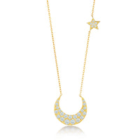 月と星ネックレスYG / Moon and Star Necklace