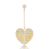 Ornament Heart Earring