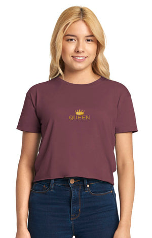 Crowned Queen Cali Crop Tee