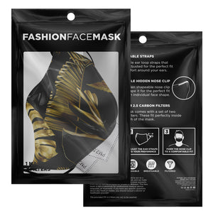Black Tropicana Face Mask