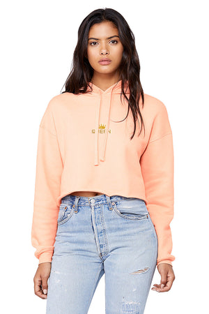 Crowned Queen Crop Hoodie