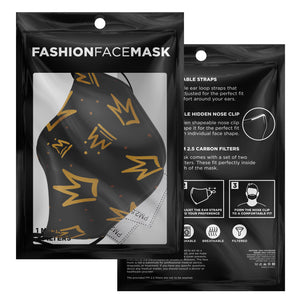 Abstract Crown Face Mask