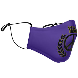 Supreme Peace Sign Face Mask (Purple)