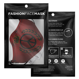 Supreme Peace Sign Face Mask (Red)