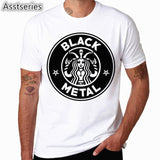 Fashion Men Print Satanic Goat Baphomet T-shirt O-Neck Short Sleeves Summer 666 Satan Streetwear Funny T Shirt