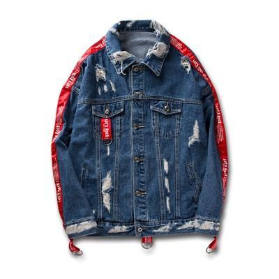 UNIVOS KUNI - Denim Jackets Splice Holes