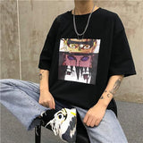 2019 Cool Naruto T Shirt Streetwear men Summer fashion High Quality t-shirt casual print O-Neck print male men top tees shirts
