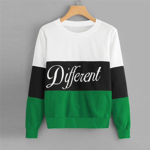Autumn Hoodies For Women Full Patchwork Color Block Pullover Femme Sweatshirts Girls All Match Casual Winter Top Moletom 40OC17