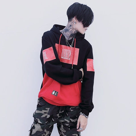 Men's Hip-hop Singles Spring Clothes Hot style limited loose dynamic hoodie New Pattern In The Tide Lovers Even Midnight
