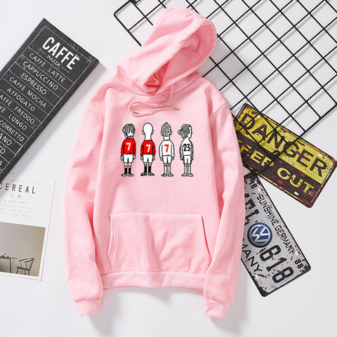4 people print pink black white black bts hoodies women kawaii stranger things poleron mujer chaqueta mujer lil peep bluza coat
