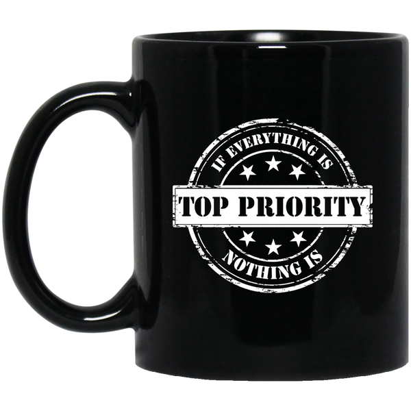 Top Priority Black Mug