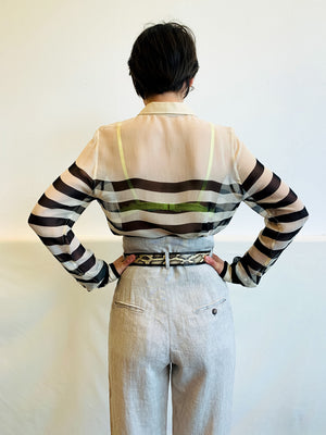 Equipment Fancy Stripe Blouse