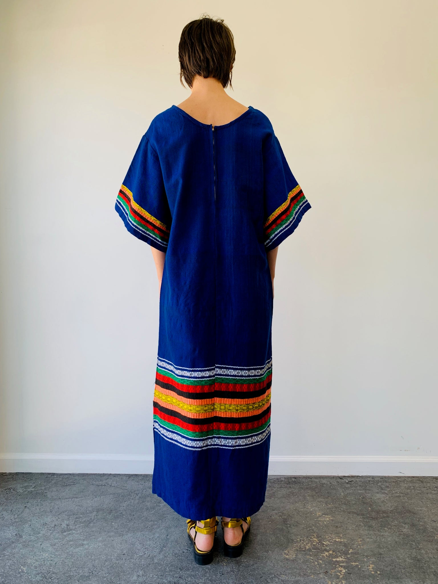 Embroidered Caftan Dress