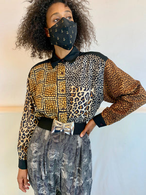 Vintage Animal Block Party Blouse