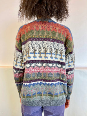 Vintage Fairy Forest Cardigan