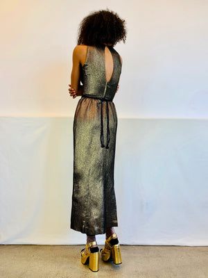 Vintage Fools Gold Gown