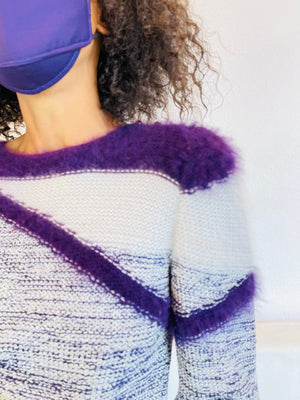 Vintage Fuzzy Punches Sweater