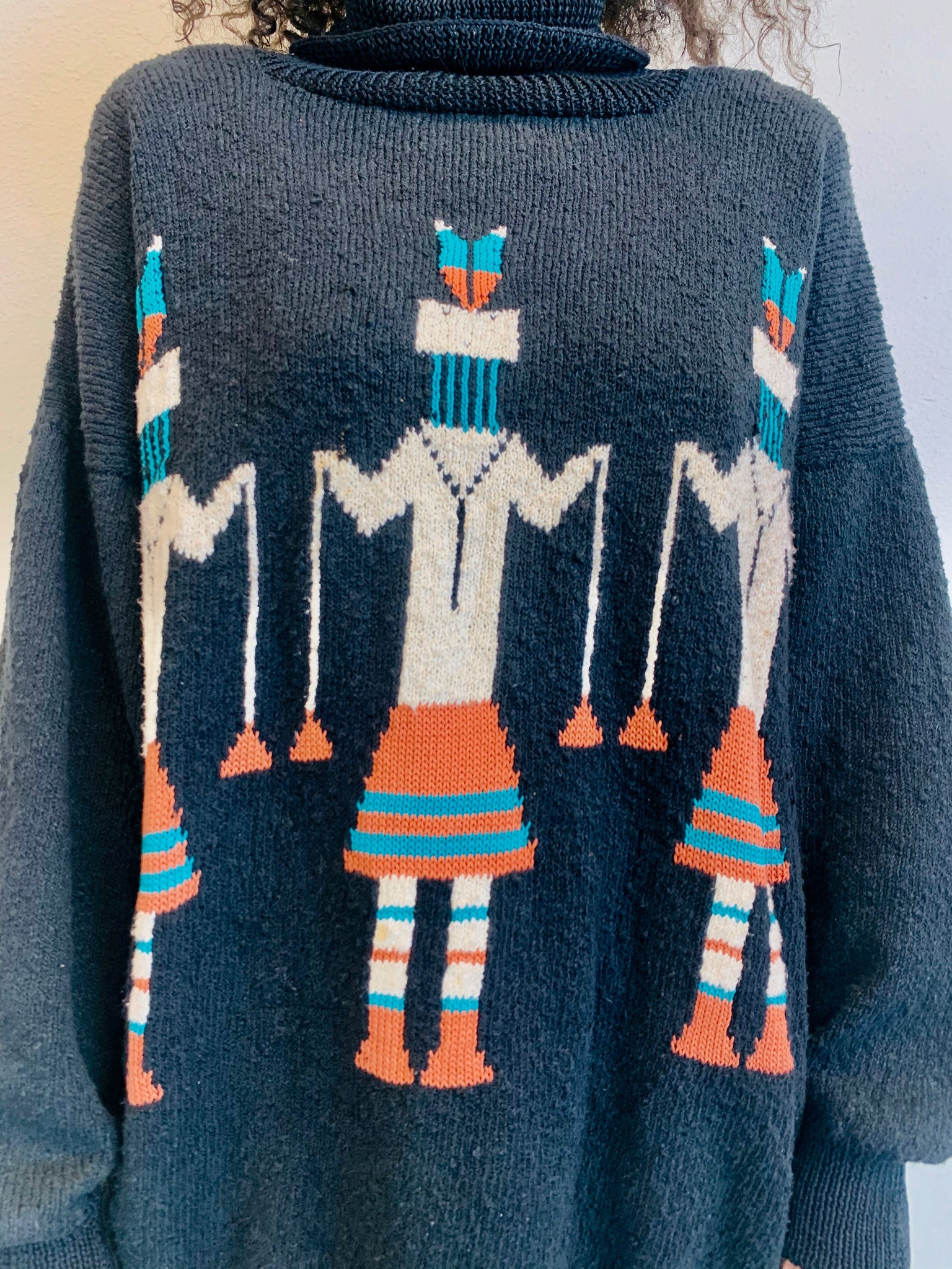 Vintage Tribal Trooper Turtleneck