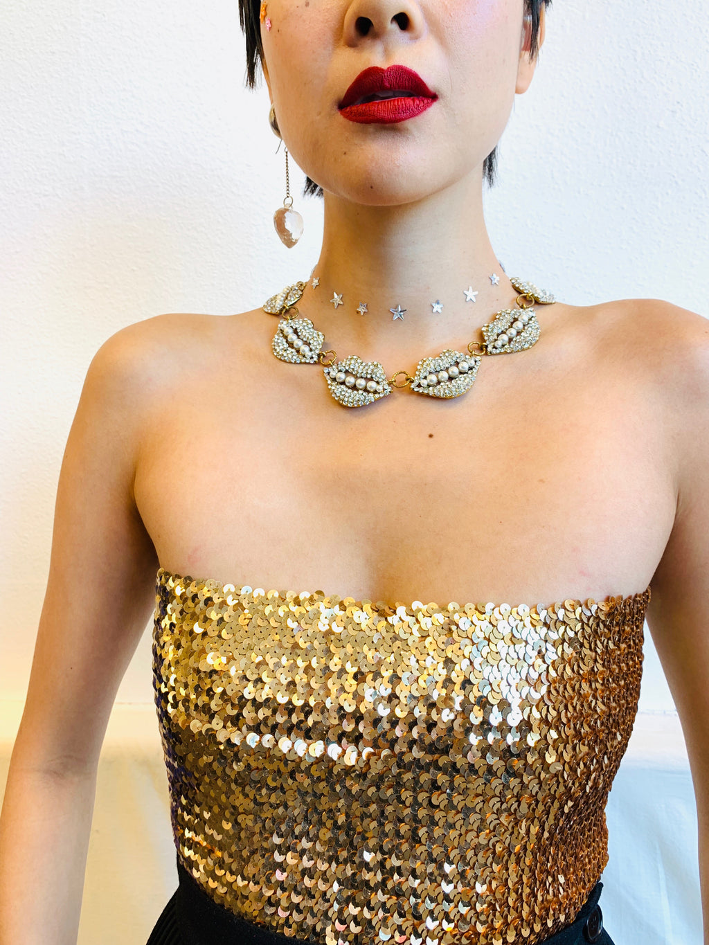 Vintage Golden Girl Tube Top