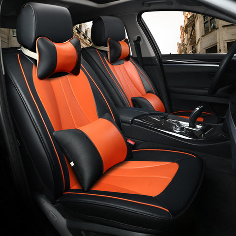2018 New Sports Style 5D Luxury Leather Car Seat Cover Full Set