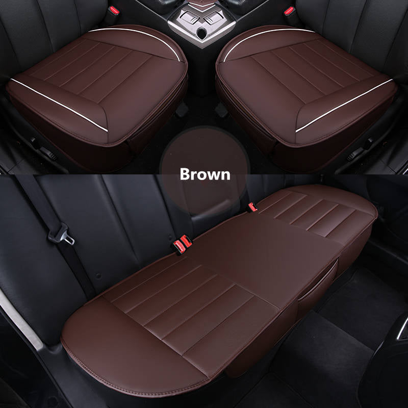 2018 New 3pcs 1set Leather Car Interior Seat Cover Cushion Pad Protector