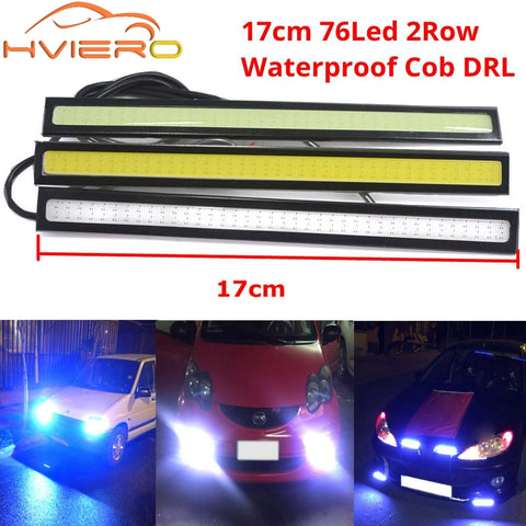 2X 17cm White Blue COB DRL LED DC 12V LED Daytime Running Light