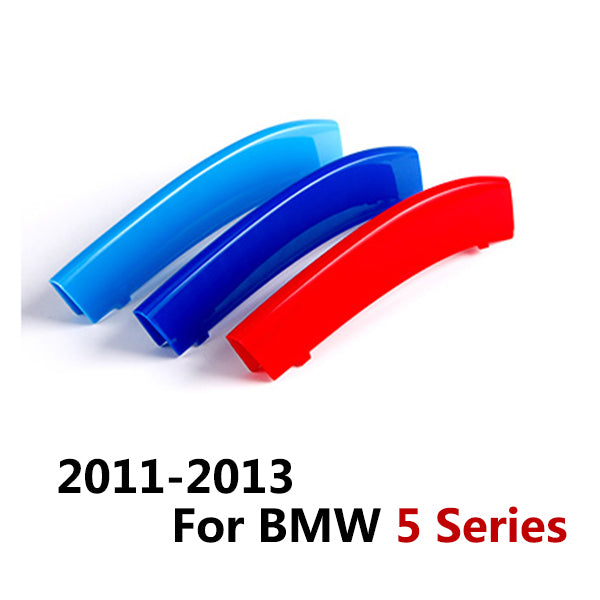 3Pcs/Set ABS Car Front Grill Trim Strips Cover Sticker Decal for BMW's