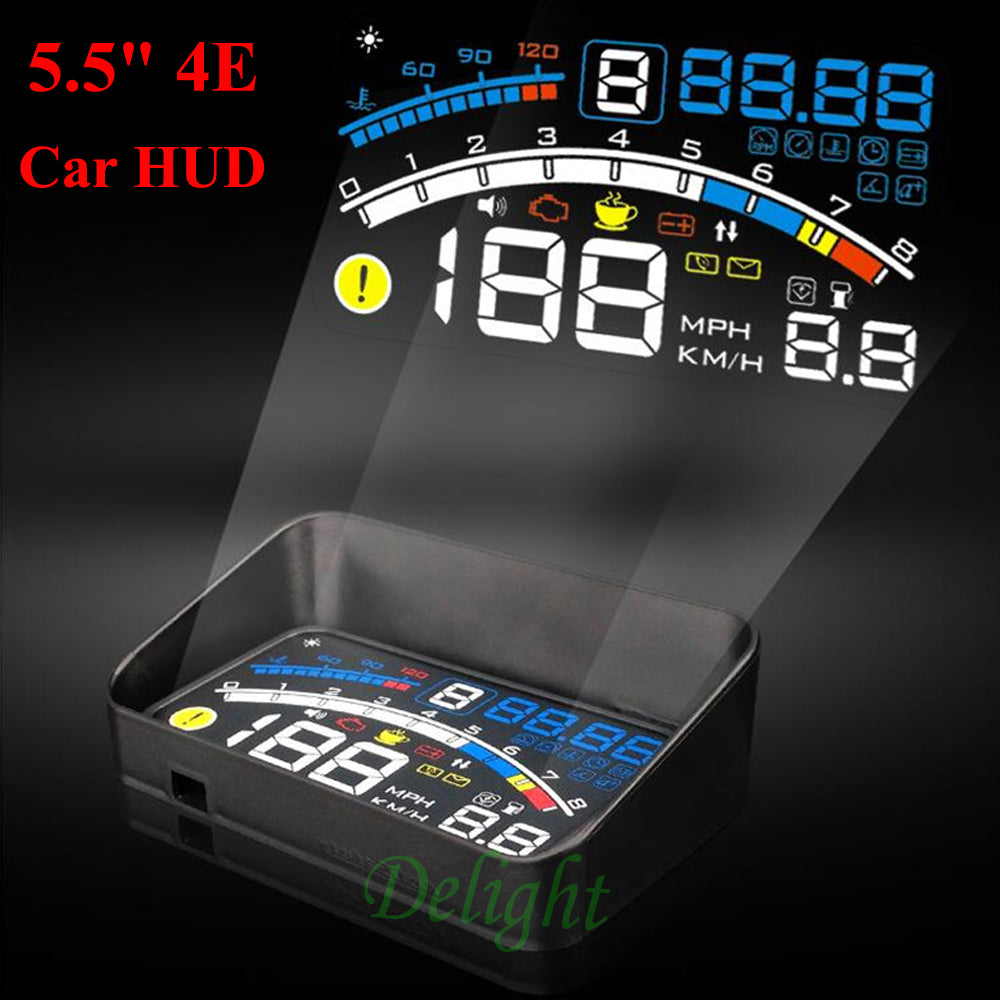 "4E 5.5"" Car OBD2 II Car Head Up Display Overspeed Warning System Projector"