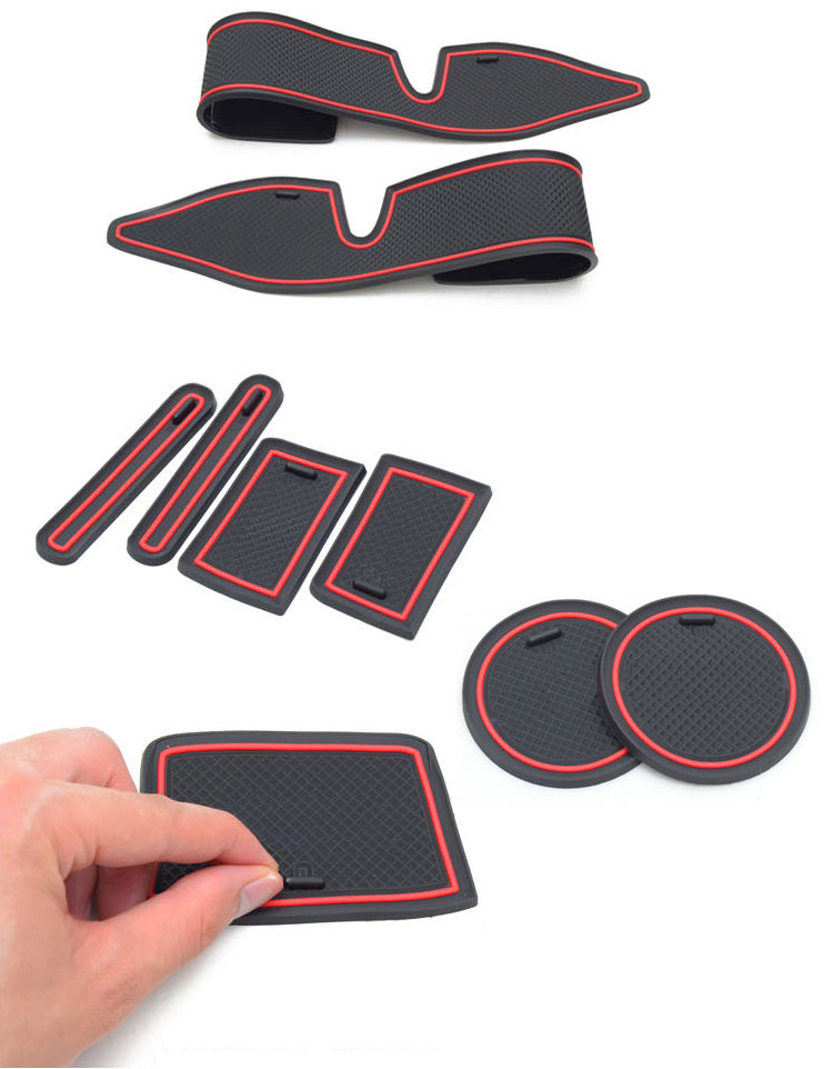 Toyota Corolla Anti-Slip Rubber Cup Cushion Door Groove Mat 15pcs Accessories