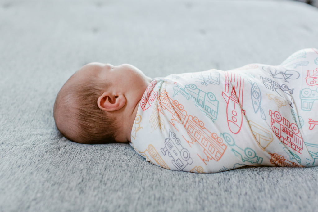 Things That Go Swaddle Blanket
