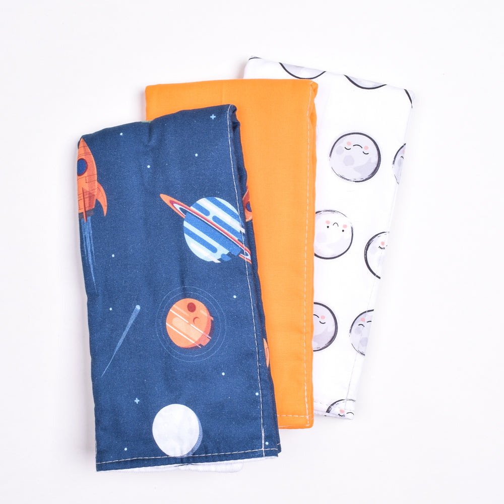 Outer Space Burp Cloth Set