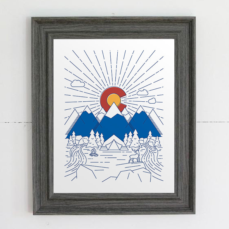 Colorado Flag Print