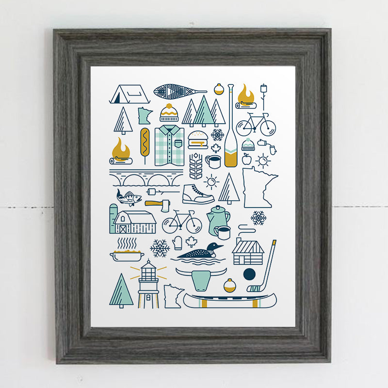 Minnesota Illustration Print