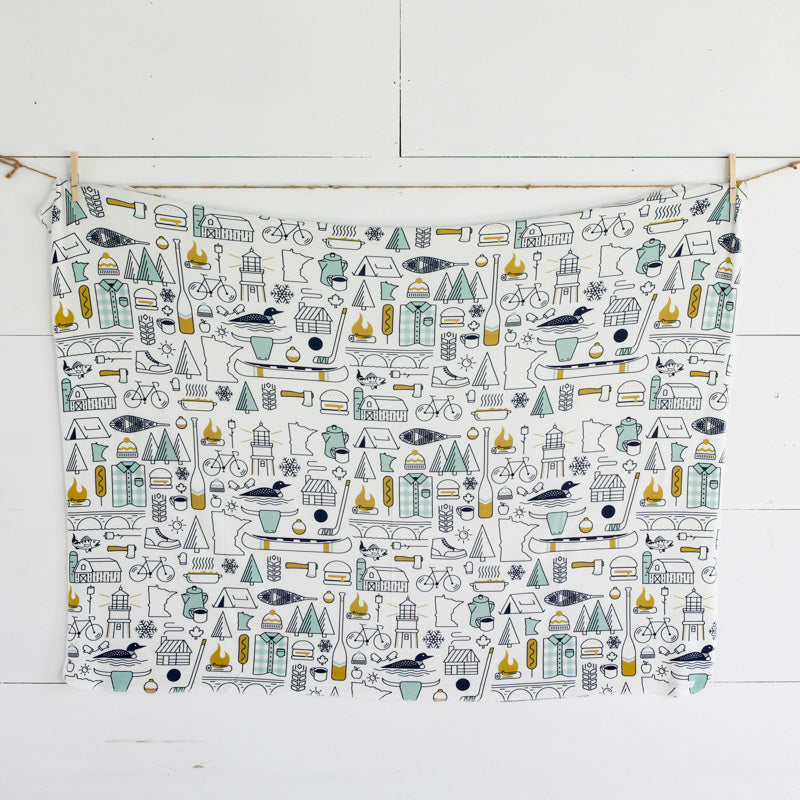 Minnesota Icons Swaddle Blanket