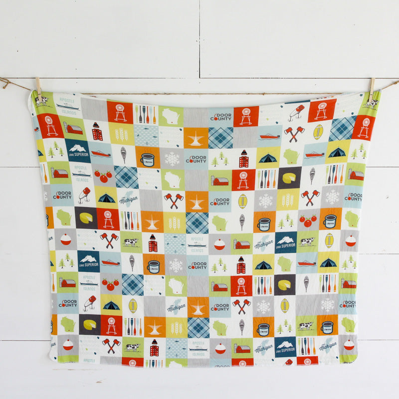 Wisconsin Patchwork Swaddle Blanket