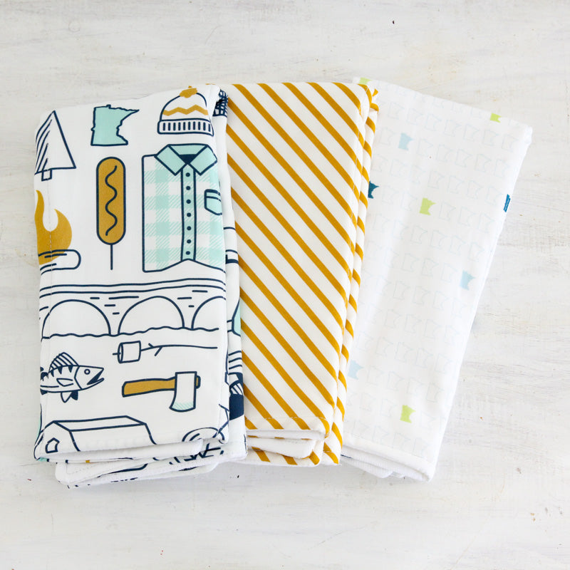 Minnesota Icons Burp Cloth Set