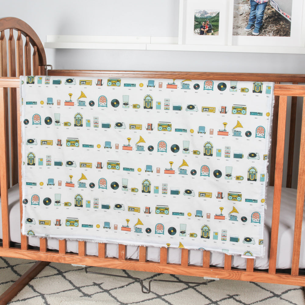 Music Players Timeline Cuddle Blanket