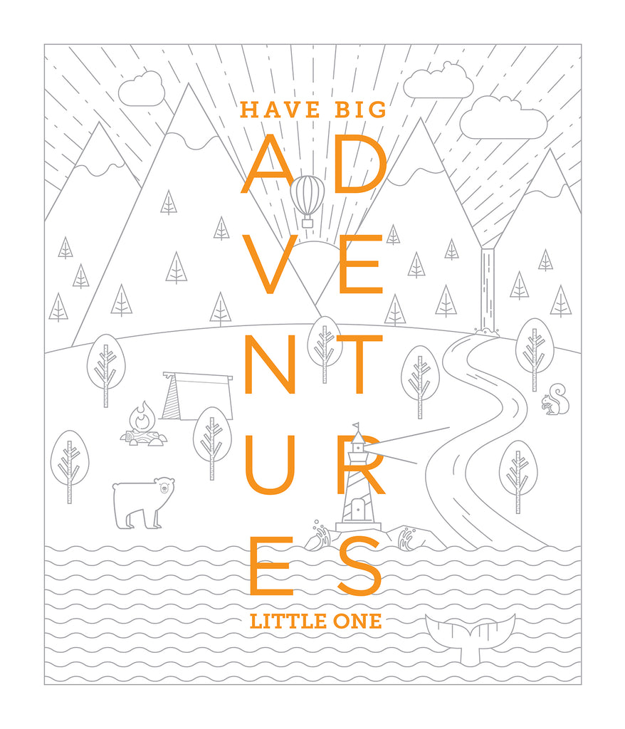 Fabric - abbey's house custom design - Have Big Adventures panel