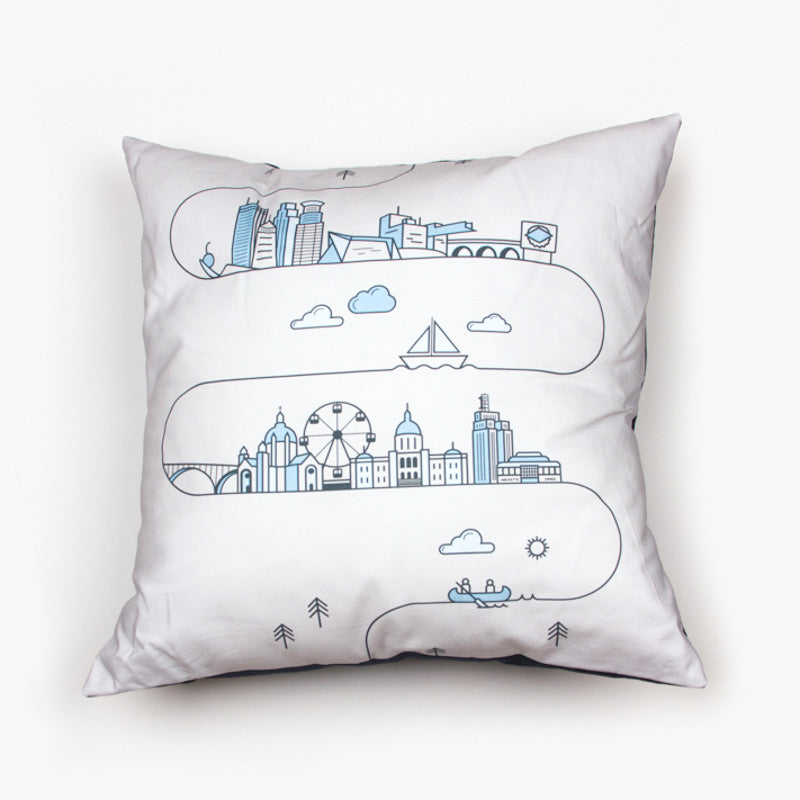 Minnesota Skyline Pillow Cover