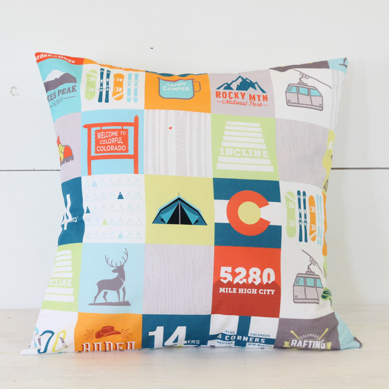 Colorado Patchwork Pillow Cover