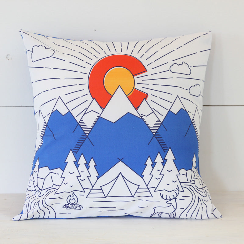 Colorado Flag Pillow Cover