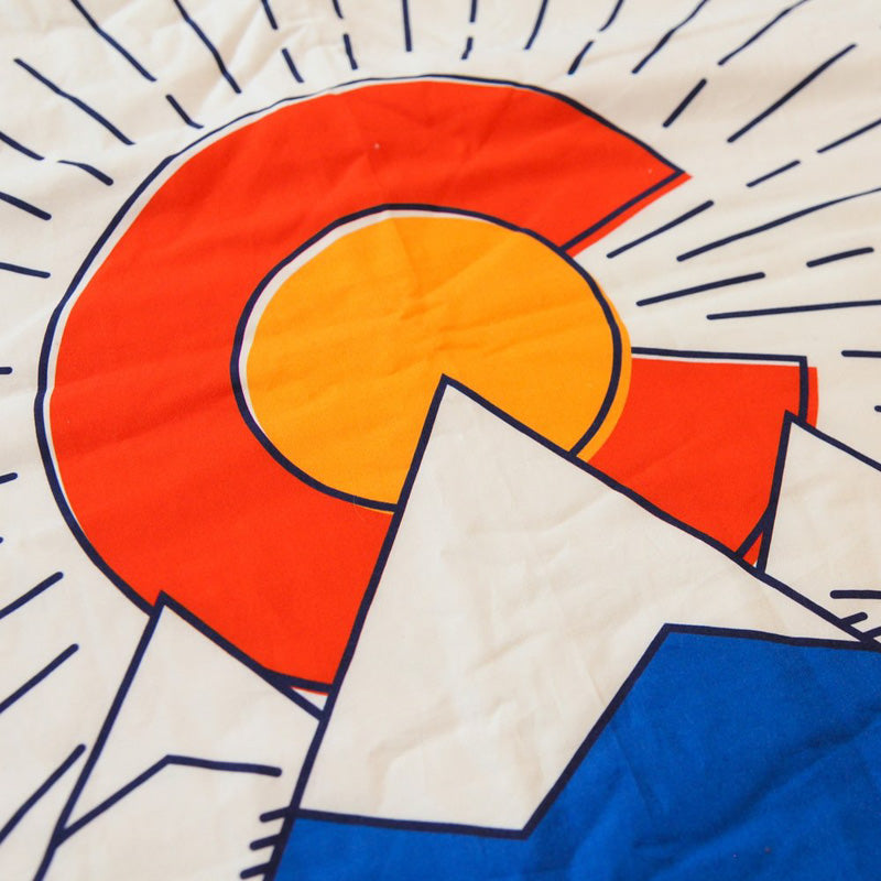 Colorado Flag Cuddle Blanket